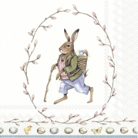 Servietten 33x33 cm - EDWARD RABBIT white