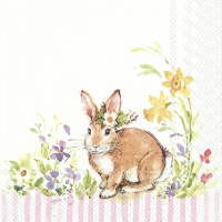 Servietten 33x33 cm - LOVELY BUNNY light rose