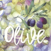 Servietten 33x33 cm - DELICIOUS OLIVES