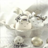 Servietten 33x33 cm - CUTE EGGS