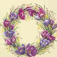 Servietten 33x33 cm - SPRING CIRCLE cream