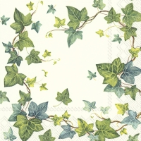 Servietten 33x33 cm - IVY´S DREAM white