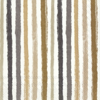 Servietten 33x33 cm - COLOURFUL STRIPES brown
