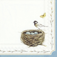 Servietten 33x33 cm - EASTER NEST white