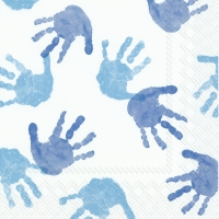 Servietten 33x33 cm - LITTLE HANDS light blue