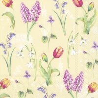Servietten 33x33 cm - SPRING BREEZE cream