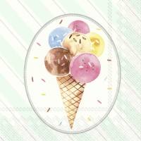 Servietten 33x33 cm - OH HAPPY ICE CREAM light grey