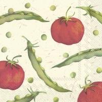 Servietten 33x33 cm - I LOVE BEANS AND TOMATOES