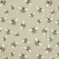 Servietten 33x33 cm - LOVELY BEES linen
