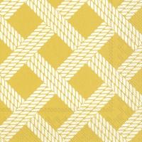 Servietten 33x33 cm - SAILORS ROPE yellow
