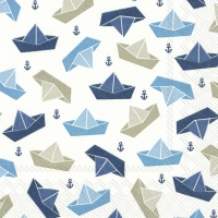 Servietten 33x33 cm - LITTLE PAPER BOATS