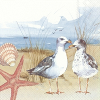 Servietten 33x33 cm - SEAGULLS AT THE BEACH