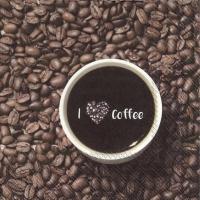 Servietten 33x33 cm - I LOVE COFFEE
