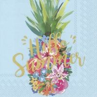 Servietten 33x33 cm - HELLO SUMMER blue