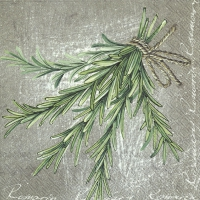 Servietten 33x33 cm - HERBAL FLAVOUR ROSEMARY