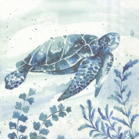 Servietten 33x33 cm - AQUAWORLD WATERTURTLE