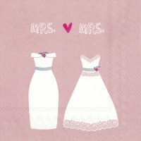 Servietten 33x33 cm - MRS. & MRS. rose
