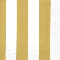 Servietten 33x33 cm - KAKSI RAITAA gold