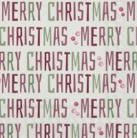 Servietten 33x33 cm - WINTER MERRY CHRISTMAS linen