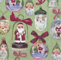 Servietten 33x33 cm - CHRISTMAS DECORATION green