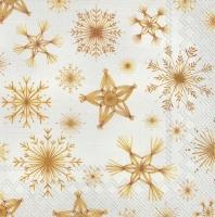 Servietten 33x33 cm - STRAW STARS linen