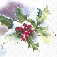 Servietten 33x33 cm - WINTER ILEX