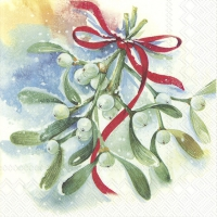 Servietten 33x33 cm - WINTER MISTLETOE