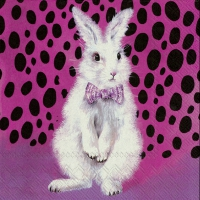 Servietten 33x33 cm - BAD HAIR BUNNY