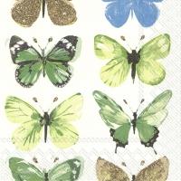 Servietten 33x33 cm - NATHALIE green