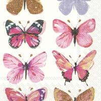 Servietten 33x33 cm - NATHALIE pink