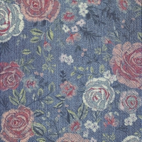 Servietten 33x33 cm - DENIM ROSE