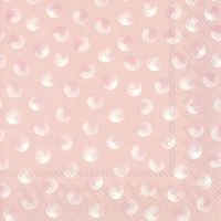 Servietten 33x33 cm - PIGGY DOTS rose