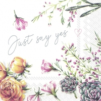 Servietten 33x33 cm - JUST SAY YES