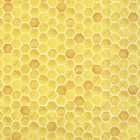 Servietten 33x33 cm - BEE INSPIRED yellow