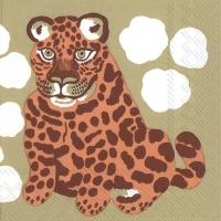 Servietten 33x33 cm - KAKSOSET brown