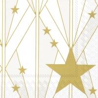 Servietten 33x33 cm - ARTDECO BIG STAR gold