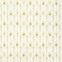 Servietten 33x33 cm - ARTDECO LITTLE STARS gold