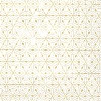 Servietten 33x33 cm - CRYSTAL ORNAMENTS white gold