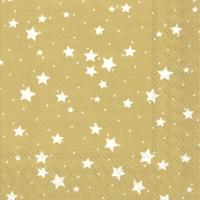 Servietten 33x33 cm - STELLA DI NATALE gold