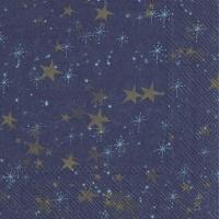 Servietten 33x33 cm - STERNENHIMMEL dark blue