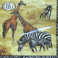 Servietten 33x33 cm - Wildlife cream