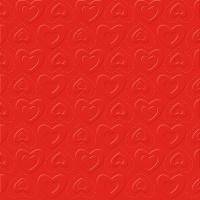 Servietten 33x33 cm - CARINO UNI rot