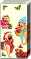 Taschentücher CHRISTMAS DOGS