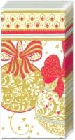 Taschentücher NAVIDAD DECORATIVA white red