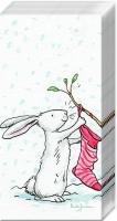 Taschentücher - CHARMING SNOW RABBITS