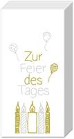 Taschentücher - ZUR FEIER DES TAGES gold silv.