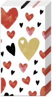 Taschentücher - LOVE YOU gold red