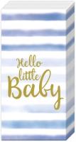 Taschentücher - HELLO LITTLE BABY light blue