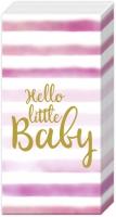Taschentücher - HELLO LITTLE BABY light rose