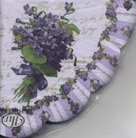 Servietten - Rund MY LADY VIOLETS purple
